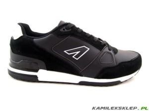 84ed5459 ~AMERICAN CLUB~ Czarne, sportowe buty męskie